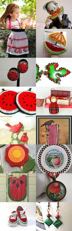 Watermelon Time by Marsha on Etsy--Pinned+with+TreasuryPin.com