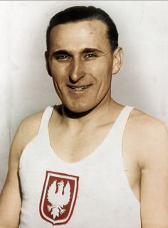 Janusz Tadeusz Kusociński -  athlete, winner in the 10000 m event at the 1932 Summer Olympics in LA, silver in Turyn 1934 (b. 1907 - killed by Nazis in Palmiry in 1940).