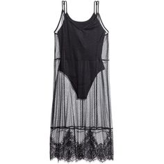 Mesh Dress with Bodysuit $17.99 (160 SEK) ❤ liked on Polyvore featuring dresses, vestidos, bodysuit, h&m and mesh jersey