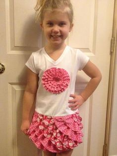 made by Nicole Rose with Fluffy Ruffle pattern
