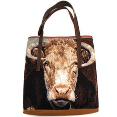Ralph The Bull Totem Needlepoint Handbag at Maverick Western Wear