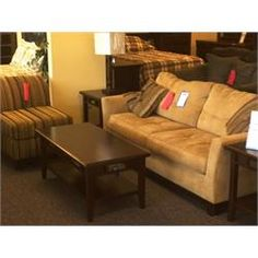 """Rent to Own Living Room Furniture - Premier Rental-Purchase located in Dayton. Simmons Furniture """"Opus"""" Sofa and Chair"""