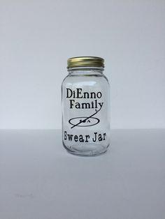 Personalized Change Jar, Swear Jar, Mason Jar Bank, Coin Jar, Swear Fund, Family Gift, Rainy Day Fund, House Fund, Gag Gift, Mason Jar Bank by PerfectGiftByNonna on Etsy