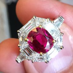 """317 Likes, 13 Comments - Frank Everett (@frankbeverett) on Instagram: """"Very special ring by #CarvinFrench with a 3.02 carat Classic Burmese #ruby #noheat and 2.44 carats…"""""""