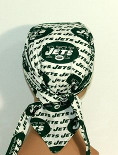 NFL Biker hat New York Jets Doo Rag with pocket by UniScrubCaps, $10.99