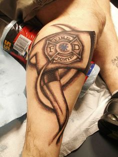 Fire Fighter tattoo- Tattoo Artist Olivia Alden