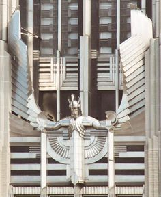 "The stainless steel sculpture, ""Spirit of Light,"" Niagara Mohawk Building, Syracuse, New York"