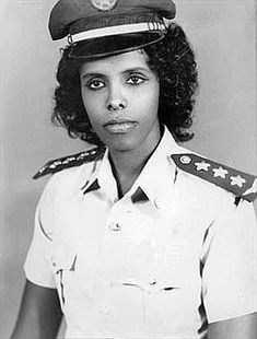 Asli Hassan Abade, was Somalia's first and only pilot and military member (1978).  She lives in Texas.  http://en.wikipedia.org/wiki/Asli_Hassan_Abade