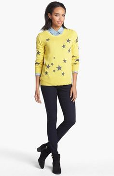 Halogen® Intarsia Knit Sweater (Regular & Petite) available at #Nordstrom