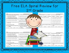 This Daily ELA Spiral Review is a great way to start the day with your second grade students! It is designed to help students get extra practice and review grammar skills that have been taught in class. Click on preview for your FREE sample pages. These pages are designed to be cut into half to save paper and copies.