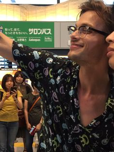 #MatthewGrayGubler arrives in Japan. June 2016.