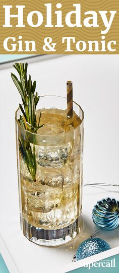 Made with an Old Tom style gin (preferably one that's been barrel-aged, like Ransom), dry vermouth and craft tonic water, this holiday G&T comes garnished with a sprig of fresh rosemary, which hits you with an aromatic whiff of Christmas as you bring it to your lips.