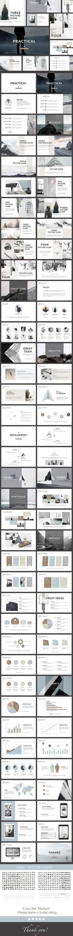 practical clean powerpoint presentation by general description screen size free font used 76 unique slides creative slides business slides easy customize