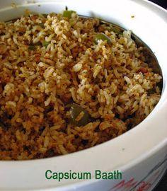 Capsicum Baath! The spice powder is stunning!