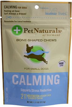 Pet Naturals of Vermont Calming Dog Chews: In case your puppy starts to pace, obsessively lick, constantly bark, or is plagued with separation anxiety, there are Pet Naturals of Vermont CALMING Dog Chews. These chill-out chews provide natural calming ingredients like colostrum and L-Theanine to help your pet keep it mellow. CALMING Dog Chews are a great pre-fireworks treat, too!