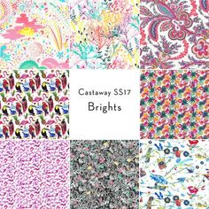 Castaway Collection: Fat Quarter Bundle in Brights