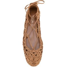 the best attitude db904 3df21 Aquazzura  Kya  ballerinas ( 375) ❤ liked on Polyvore featuring shoes,  flats, green ballet flats, round toe ballet flats, ankle tie ballet flats,  ...