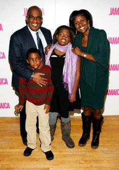 Al Roker and Deborah Lee Roberts and their children Leila,10, and Nicholas Roker,6