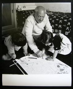 Picasso drawing with children