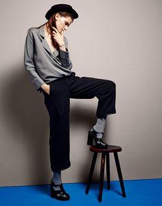 #GiorgioArmani blouse and trousers