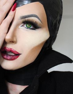 Maleficent Kostüm selber machen - Make Up Ideas Halloween Costumes To Make, Halloween Looks, Halloween Face Makeup, Easy Halloween, Women Halloween, Disney Halloween Makeup, Halloween Recipe, Halloween Projects, Halloween Nails