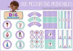 FREE Doc McStuffins Birthday Party Printables | Peonies and Poppyseeds