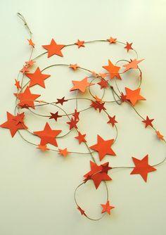 baby boy nursery decoration - STAR GARLAND decoration - autumn colors - holidays decoration - by xoxocute on etsy. $14.00, via Etsy.