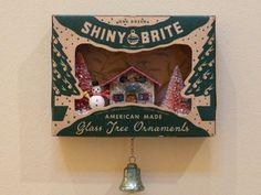 Vintage Christmas Shiny Brite Ornament Shadow Box on ebay!