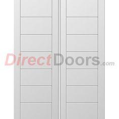 Image of Palermo White Primed Flush Door Pair