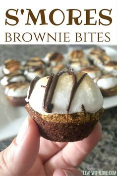 An easy semi-homemade treat that is perfect for summertime! Two Bite Brownies, Mini Brownies, Homemade Brownies, Homemade Desserts, Mini Desserts, Yummy Treats, Delicious Desserts, Sweet Treats, Dessert Recipes