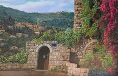 Original painting, Original Artwork, Jerusalem oil paint, Jerusalem art, Realistic painting, Living room art, Gift for couple, Dining Room, Jerusalem Painting, Judaism art, Holy City, Bedroom wall art, House decor  Painting name: Ancient house in Ein Kerem  Painting Size::  100 x 90 cm  39.4 x 35.4 inch Canvas Stretch  About the Artist: Picture dimensions: 100/90 cm  David (Dudu) Harel graduate of Bezalel Academy of Art and Design, painter and multidisciplinary designer, presently concen...