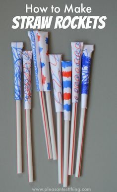 fun and easy Fourth of July crafts for kids - It's Always Autumn - fun and easy of July kids crafts – great ideas for fun family activities on Independence Day! Summer Activities, Craft Activities, Family Activities, Straw Activities, Rainy Day Activities For Kids, Rainy Day Crafts, Babysitting Activities, Rainy Day Fun, Babysitting Boys