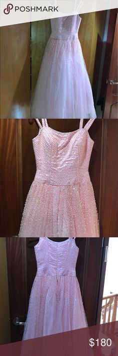 Prom dress Báby pink elegant sequences dress Dresses Prom