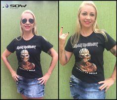 Baby Look Iron Maiden - The Book Of Souls por Beatriz Mattes, mais uma cliente Sow Store