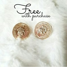 // FREE EARRINGS WITH PURCHASE // FREE WITH PURCHASES $75+*.  (Valued at $34).  Offer for $75+ purchase price only.  1 available.  Until supplies last.  Cannot be combined with other offers. If bundled, the price applies to amount paid after discount. Jewelry Earrings