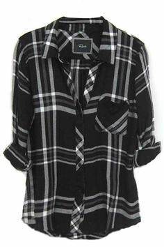 Rails Hunter Plaid Shirt in Black/White/Gray