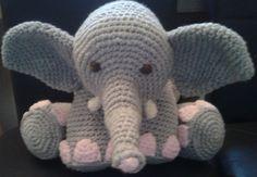 Elephant Crochet  PATTERN Pillow Beginner von PeachUnicornCrochet
