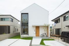 House Design Facade Stairs 31 Ideas For 2019 Minimalist House Design, Minimalist Home, Japanese Modern House, Compact House, House Viewing, Box Houses, Facade House, Exterior Design, Future House