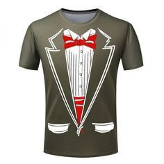 Hot Cheap Men T-shirt Tuxedo T Shirts 3D Print Funny Top