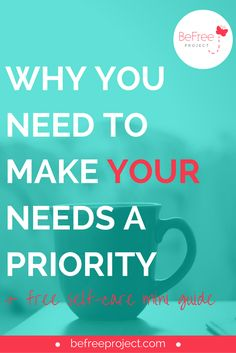 The first step towards being free is understanding that your needs matter and in order to live a more fulfilling life you must make YOU a priority. More often than not we as women tend to put our needs on the back burner so we can help everyone else but ourselves. REPIN + CLICK through to read
