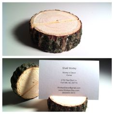 Tree Slice Place Card Holders Rustic Place Card Holders by Worleys