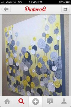Canvas Painting @ DIY Home Crafts Browns for bedroom Diy Projects To Try, Crafts To Do, Home Crafts, Craft Projects, Arts And Crafts, Diy Crafts, Grey Abstract Art, Grey Art, Abstract Flowers