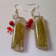 Evergreen Resin Earrings