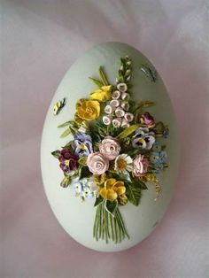 These Easter eggs look like china. Beautiful works of art-all done on an egg! Easter Egg Crafts, Easter Eggs, Art D'oeuf, Types Of Eggs, Egg Shell Art, Egg Designs, Egg Art, Egg Decorating, Paper Quilling