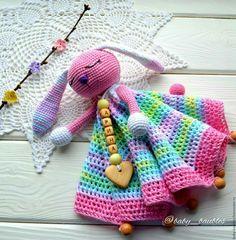 """Купить """"Заюшка"""" комфортер-сплюшка - розовый, комфортер, сплюшка, игрушка-сплюшка, зайка вязаный"""