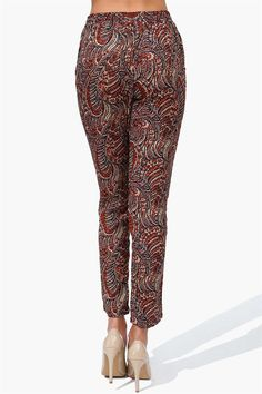 Paisley Harem Pants in Camel