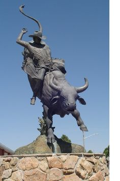 Cheyenne WY, statue of Lane Frost  ( we were here on April 25, 2012 )