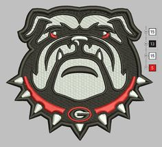 Georgia Bulldogs Embroidery Design 3 Sizes 7 by DigitalEmbroidery