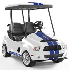 Shelby - Performance White golf cart Any FORD Lovers out there? Ford Mustang, Mustang Cars, Ac Cobra, Shelby Gt 500, Custom Golf Carts, Automobile, Gt500, Pedal Cars, Dirtbikes