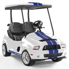 Shelby GT500 - Performance White golf cart #golfcart #golf #uaegolf
